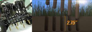 Notre méthode d'aération mécanique en profondeur à piston pour aérer le sol en profondeur