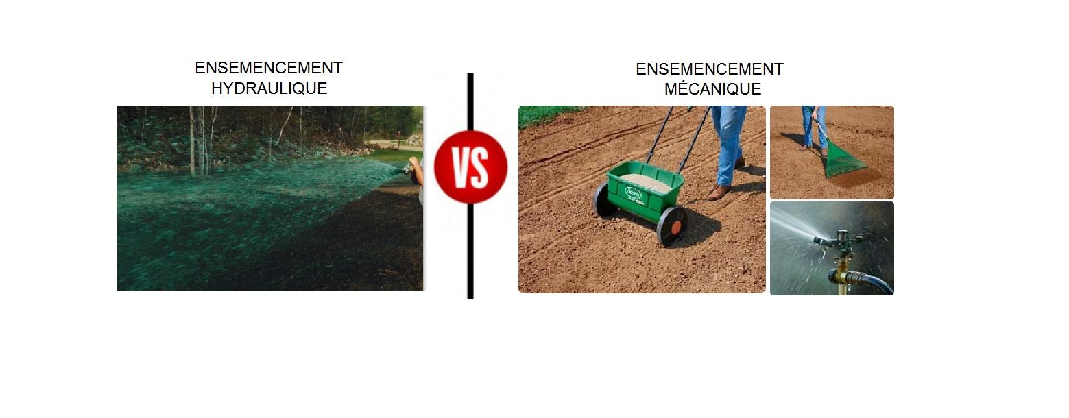 Comparaison entre ensemencement hydraulique et ensemencement mécanique