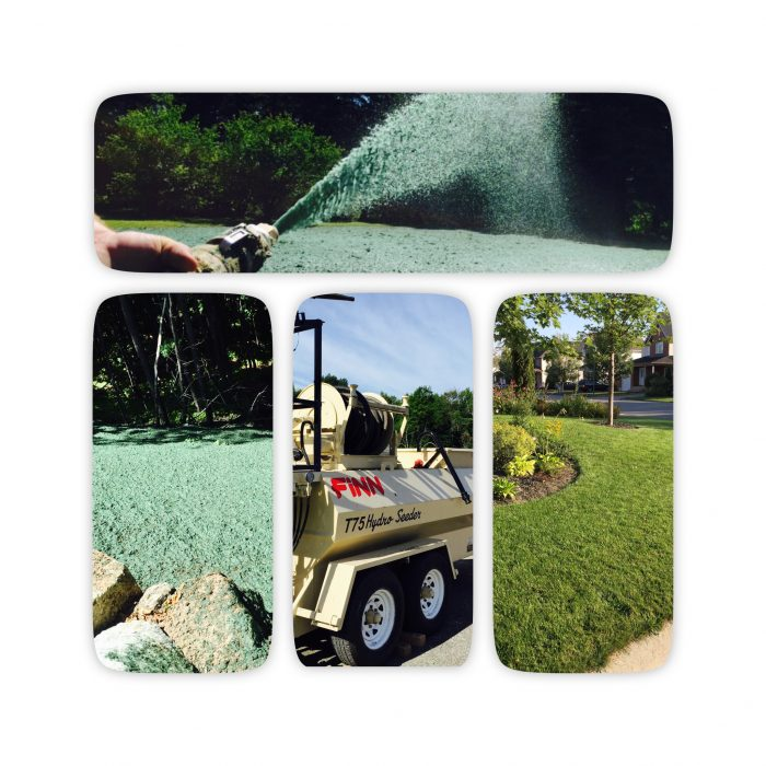 Travaux d'ensemencement avec bouillis verte par Hortiplan Outaouais