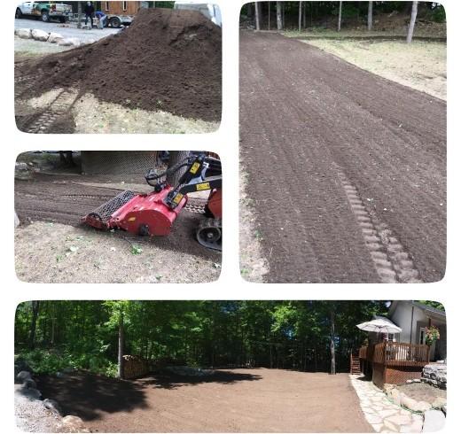 Excavation et préparation du sol par Hortiplan Outaouais