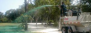 Travaux ensemencement hydraulique